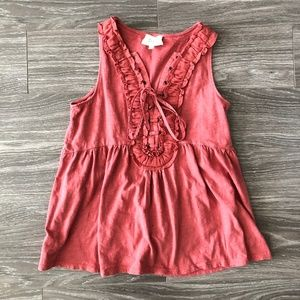 Anthropologie Deletta Coral Tank Top SZ. XS